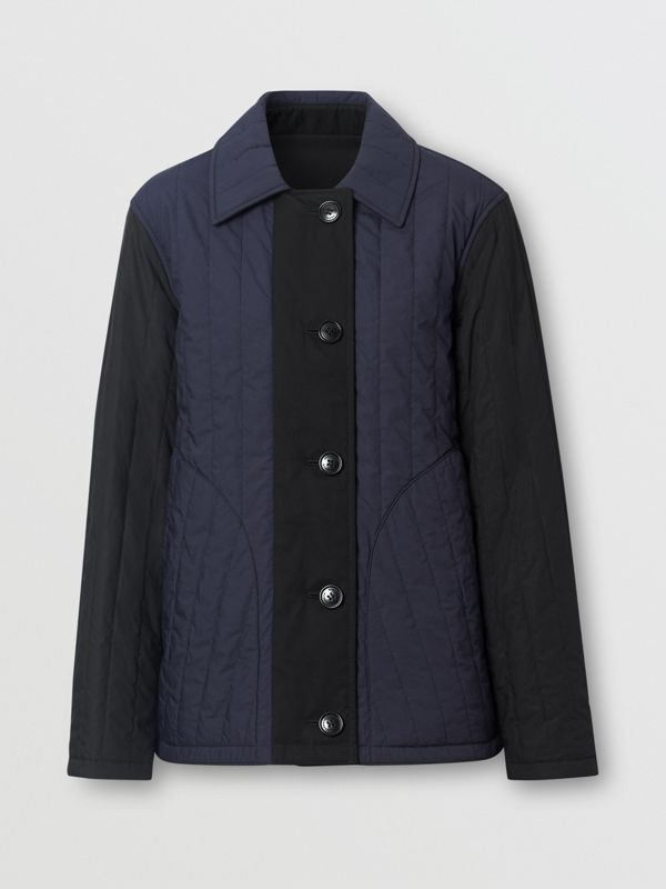 Reversible Quilted Cotton Jacket in Navy - Women | Burberry - cell image 3