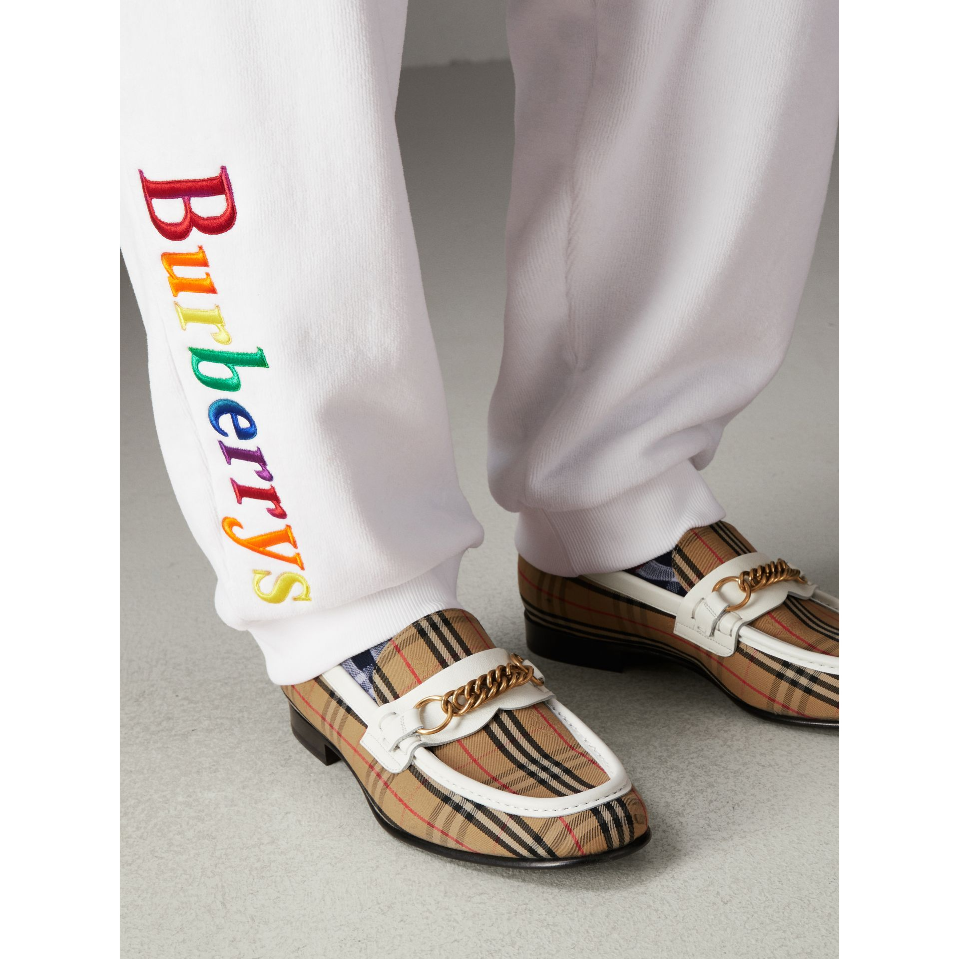 The 1983 Check Link Loafer in Off White | Burberry United States - gallery image 2
