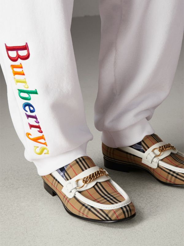 The 1983 Check Link Loafer in Off White | Burberry United Kingdom - cell image 2
