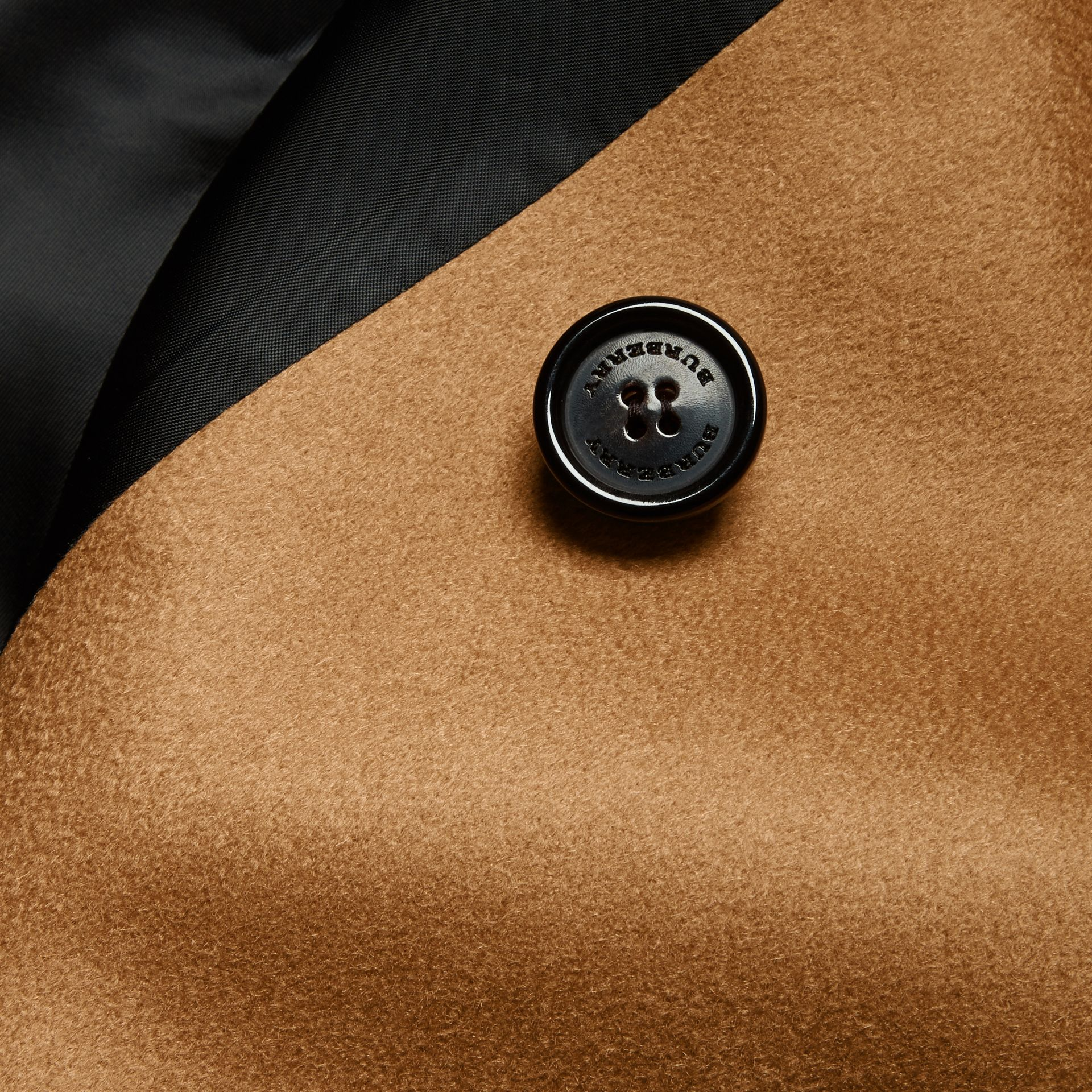Dark camel Cashmere Trench Coat Dark Camel - gallery image 2