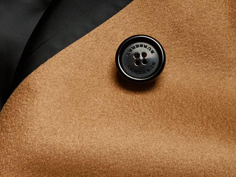 Cashmere Trench Coat in Dark Camel - Men | Burberry - cell image 1