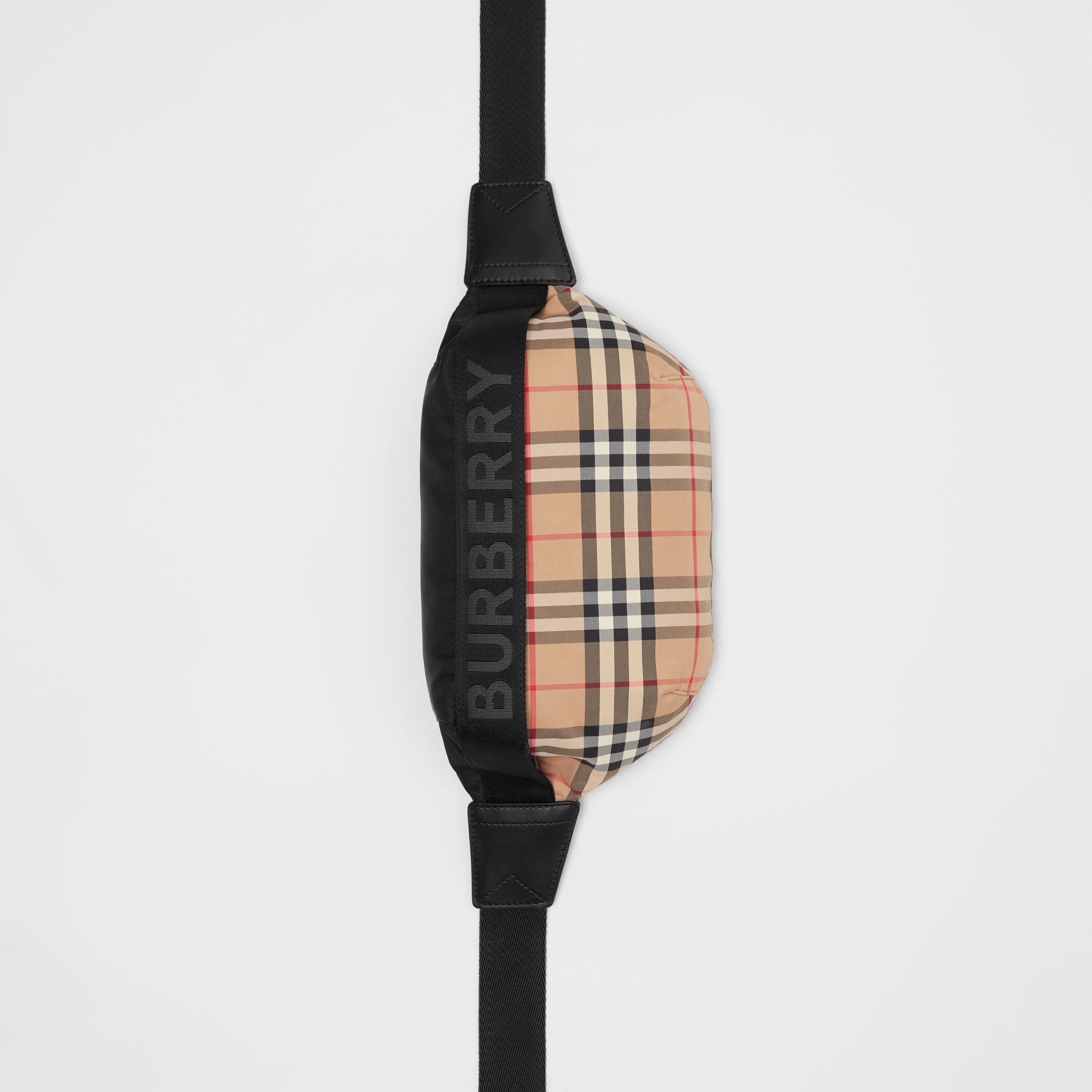 Medium Vintage Check Bum Bag in Archive Beige | Burberry Australia - gallery image 2
