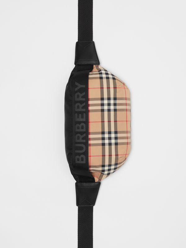 Medium Vintage Check Bum Bag in Archive Beige | Burberry Australia - cell image 2