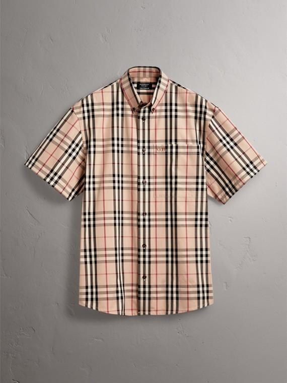 Gosha x Burberry Short-sleeve Check Shirt in Honey