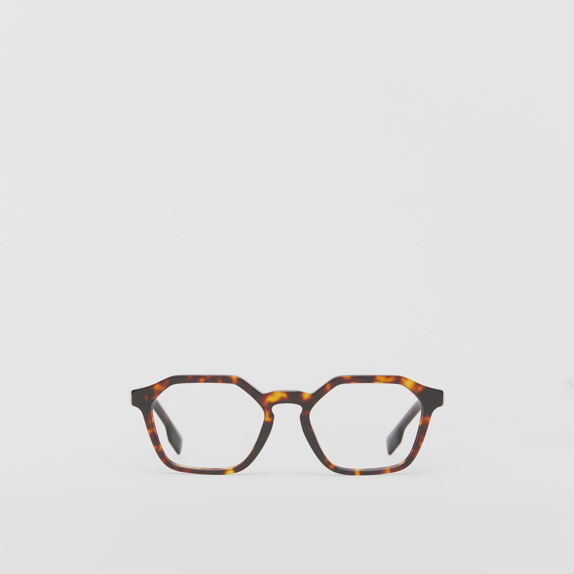 Geometric Optical Frames in Tortoiseshell - Women | Burberry United Kingdom - gallery image 0