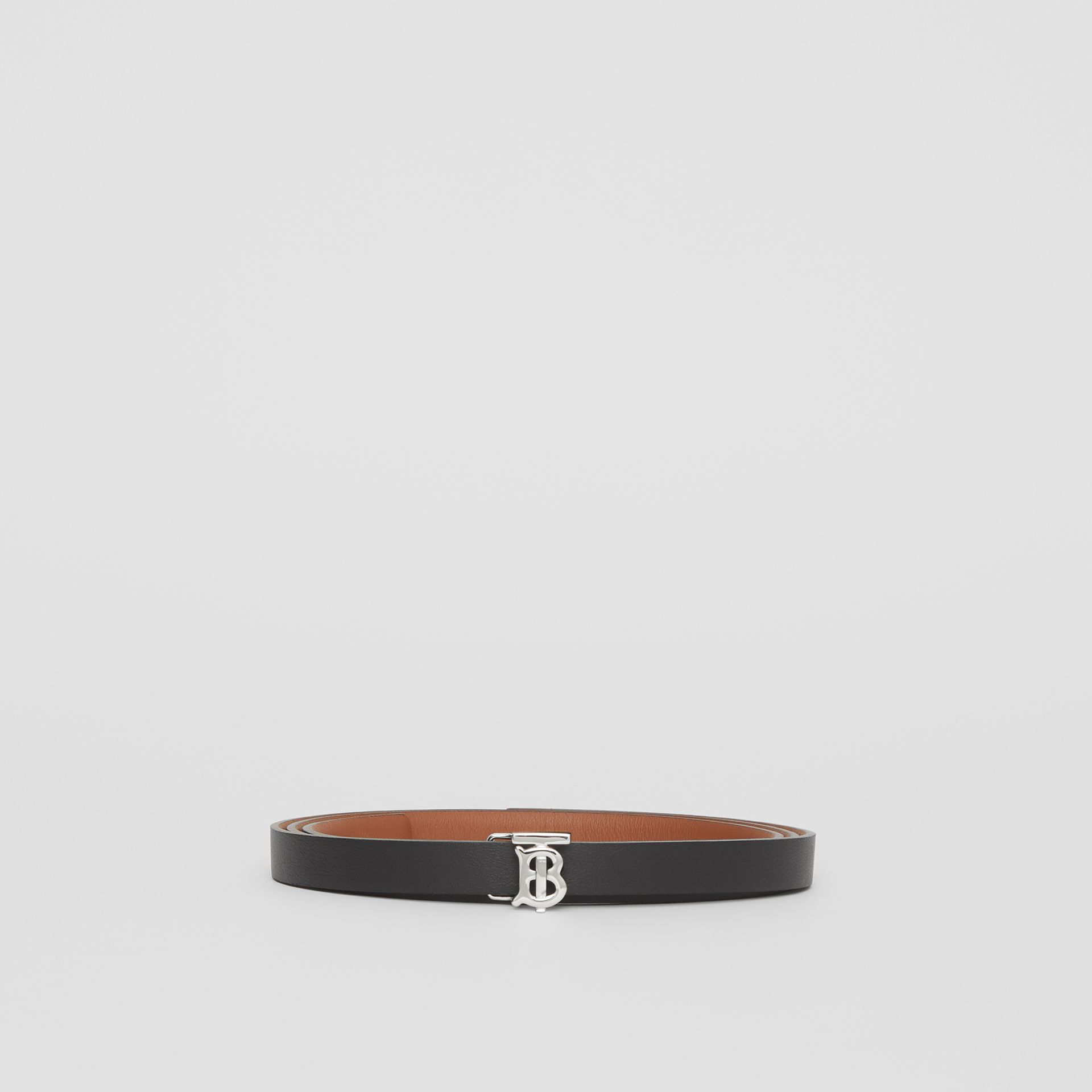 Reversible Monogram Motif Leather Wrap Belt in Malt Brown/black - Women | Burberry - gallery image 6