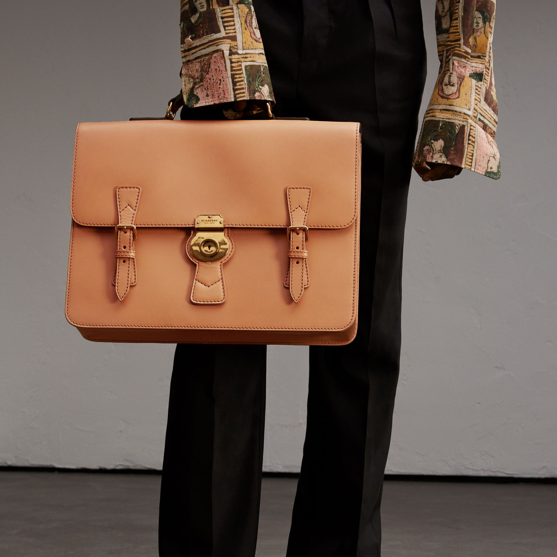 The Medium DK88 Satchel in Pale Clementine - Men | Burberry - gallery image 3