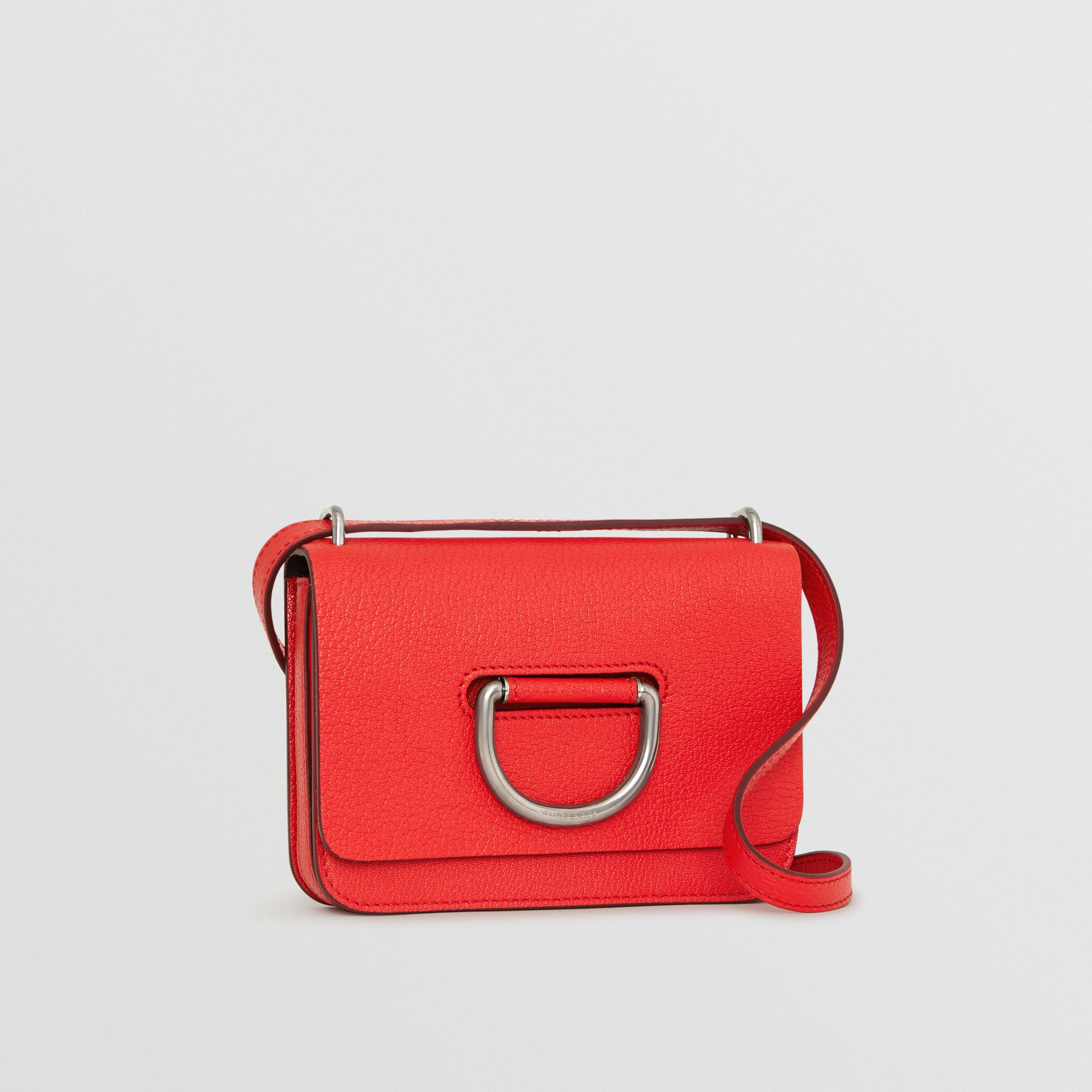 The Mini Leather D-ring Bag in Bright Red - Women | Burberry - gallery image 6