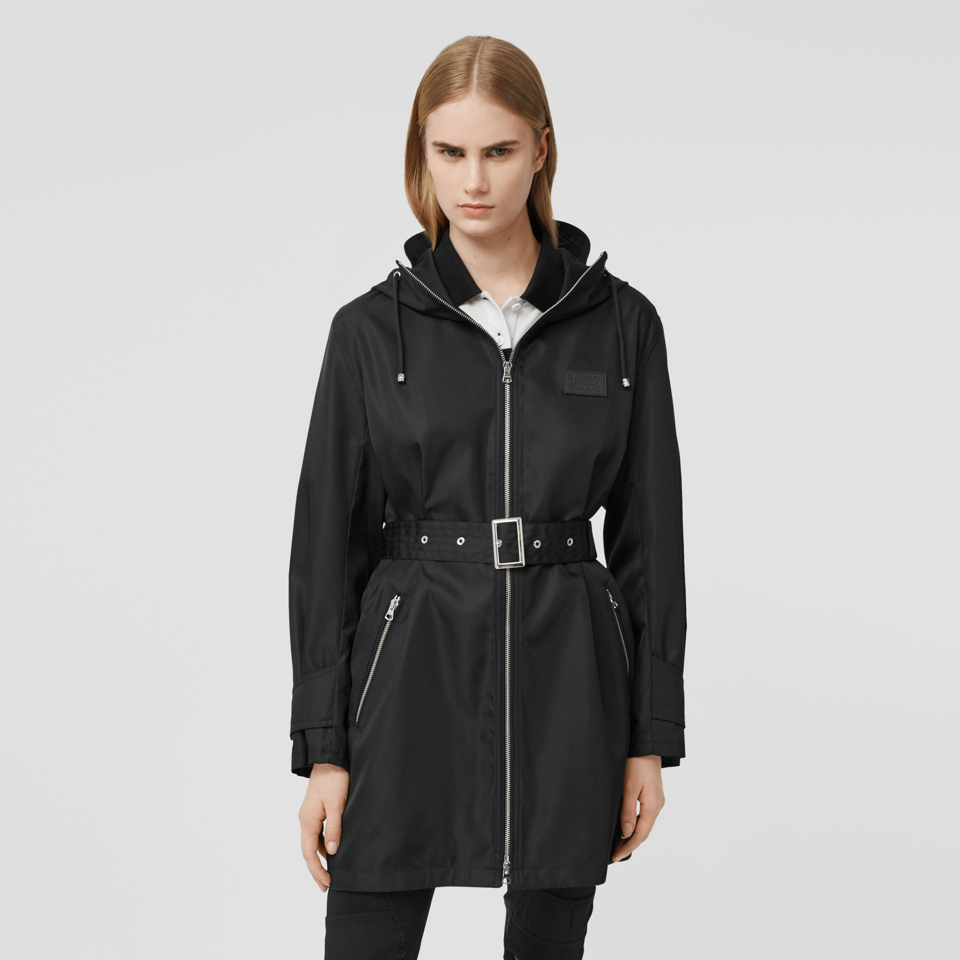 ECONYL® Parka in Black - Women | Burberry - gallery image 4