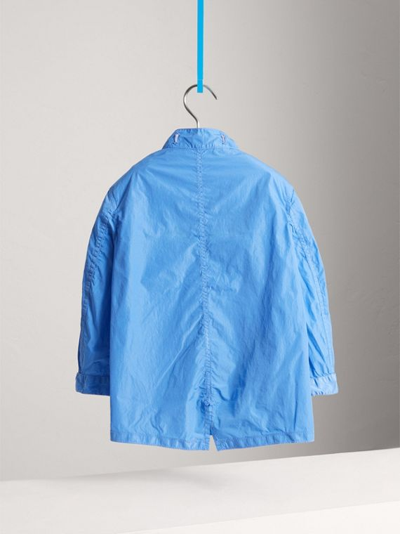 Detachable Hood Lightweight Parka Coat in Chalk Blue - Boy | Burberry United Kingdom - cell image 3