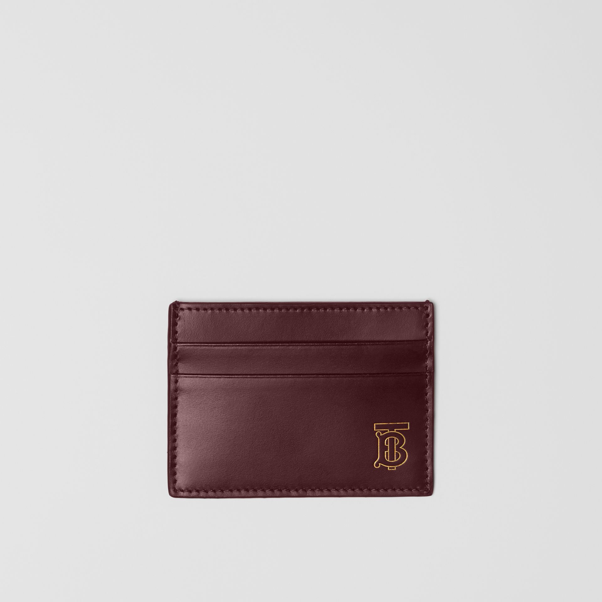Monogram Motif Leather Card Case in Oxblood - Men | Burberry - gallery image 0