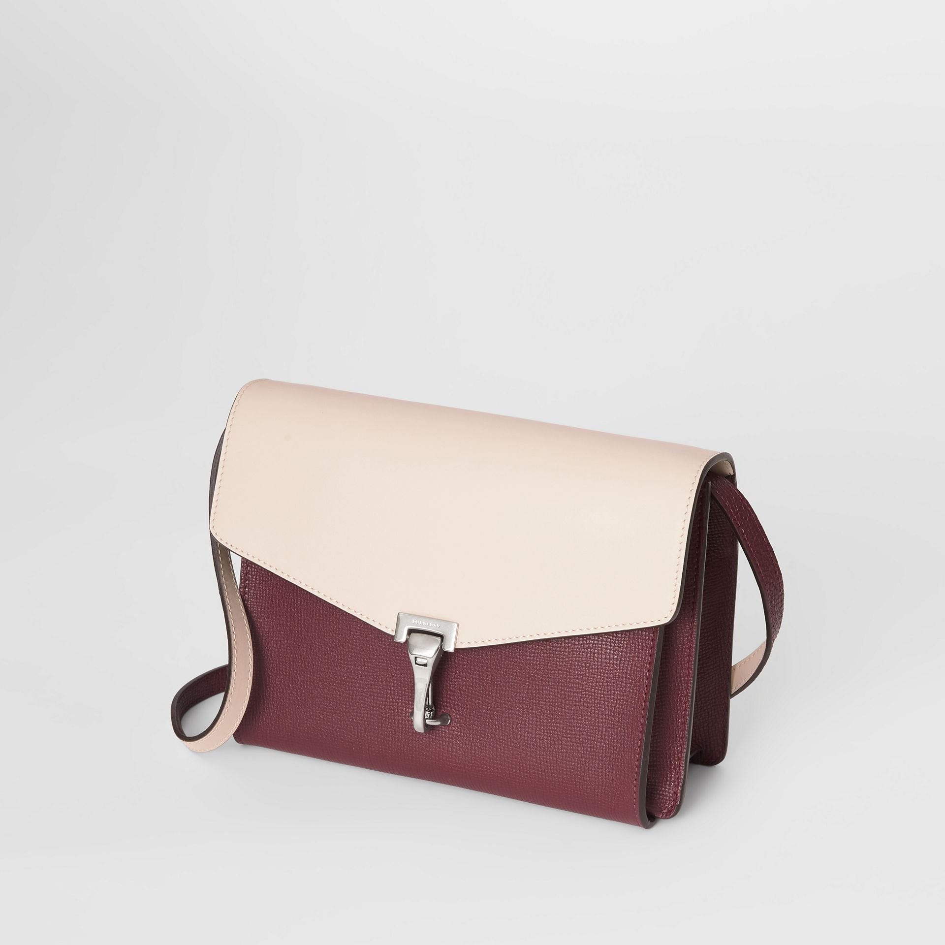 Two-tone Leather Crossbody Bag in Mahogany Red/limestone - Women | Burberry United States - gallery image 4