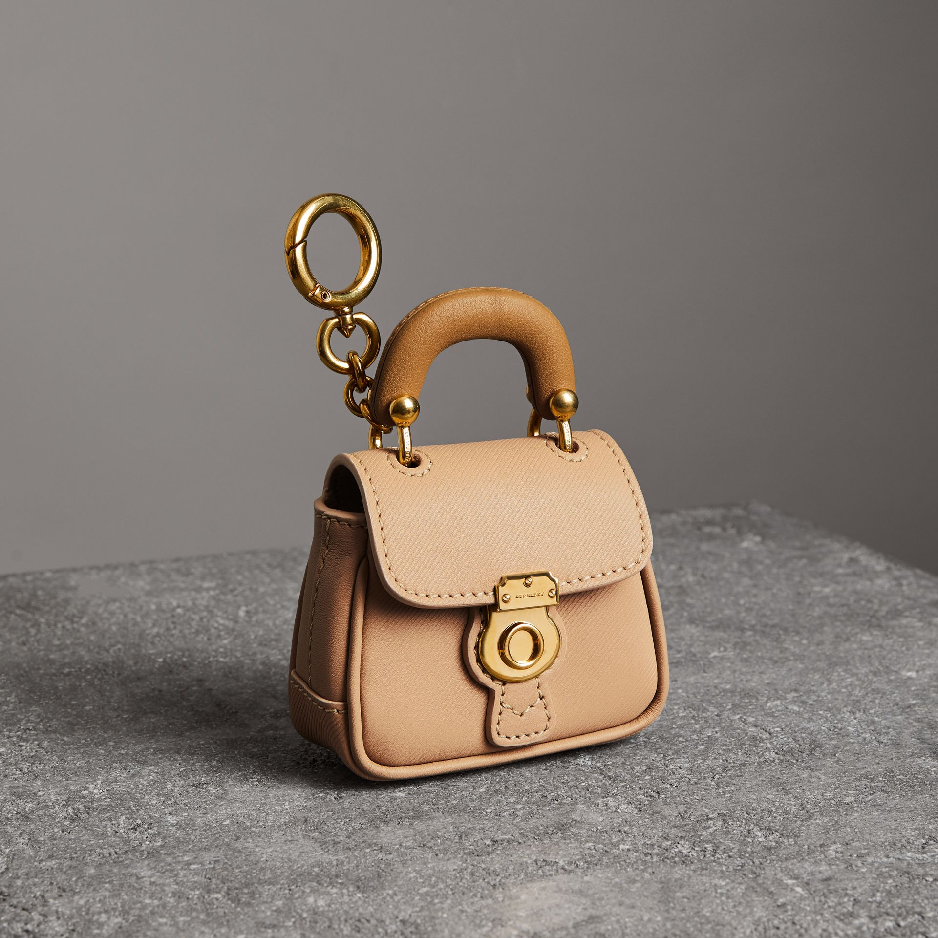 The DK88 Charm in Honey/ochre Yellow | Burberry - gallery image 0