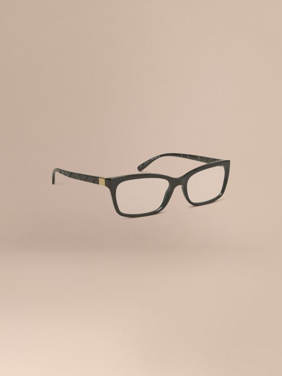 Check Detail Rectangular Optical Frames Black