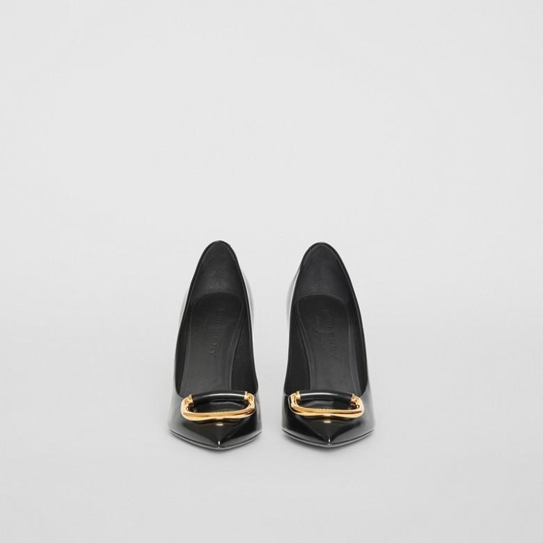 Burberry - Escarpins The D-ring en cuir - 4