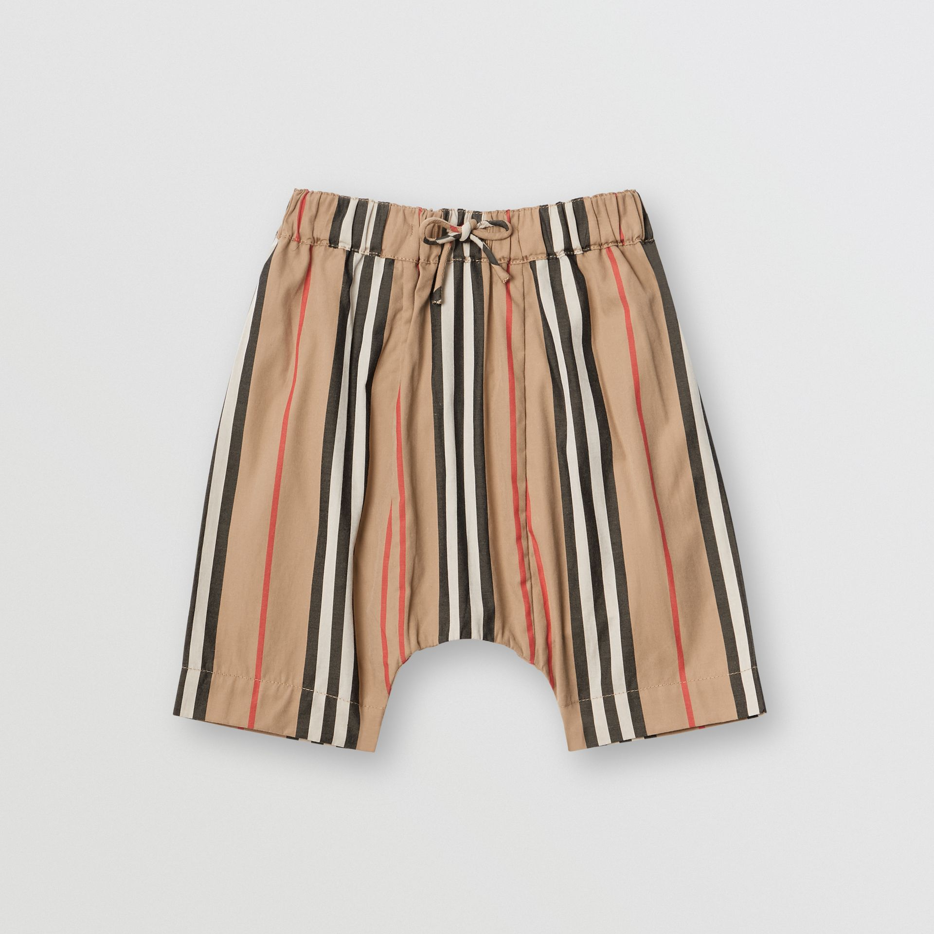 Icon Stripe Cotton Poplin Trousers in Archive Beige - Children | Burberry United States - gallery image 0