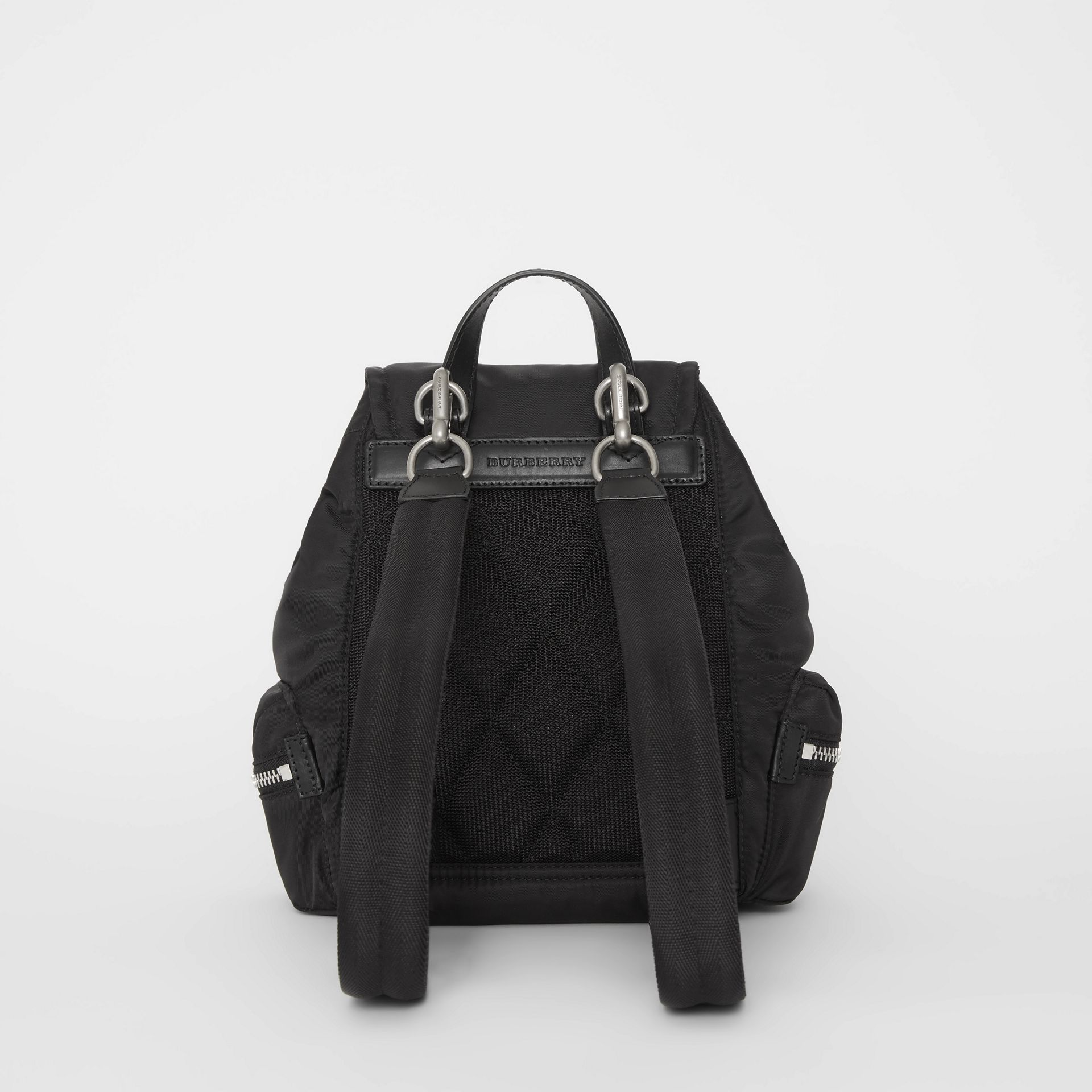 The Small Crossbody Rucksack in Puffer Nylon in Black - Women | Burberry United States - gallery image 8
