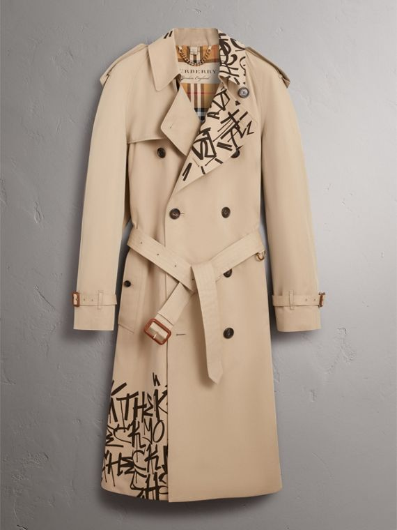 Burberry x Kris Wu Gabardine Trench Coat in Honey - Men | Burberry - cell image 3