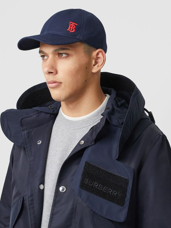 Monogram Motif Baseball Cap in Navy | Burberry Singapore - cell image 2