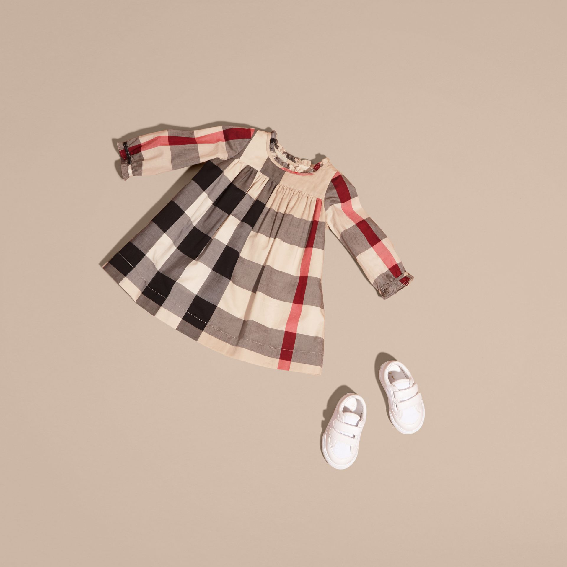 New classic check Check Cotton Dress with Ruffle Detail New Classic - gallery image 5