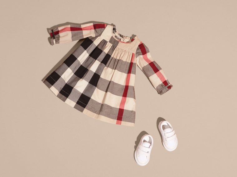 New classic check Check Cotton Dress with Ruffle Detail New Classic - cell image 4