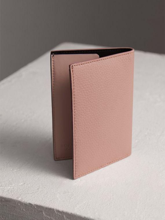 Embossed Leather Passport Holder in Pale Ash Rose | Burberry United States - cell image 2