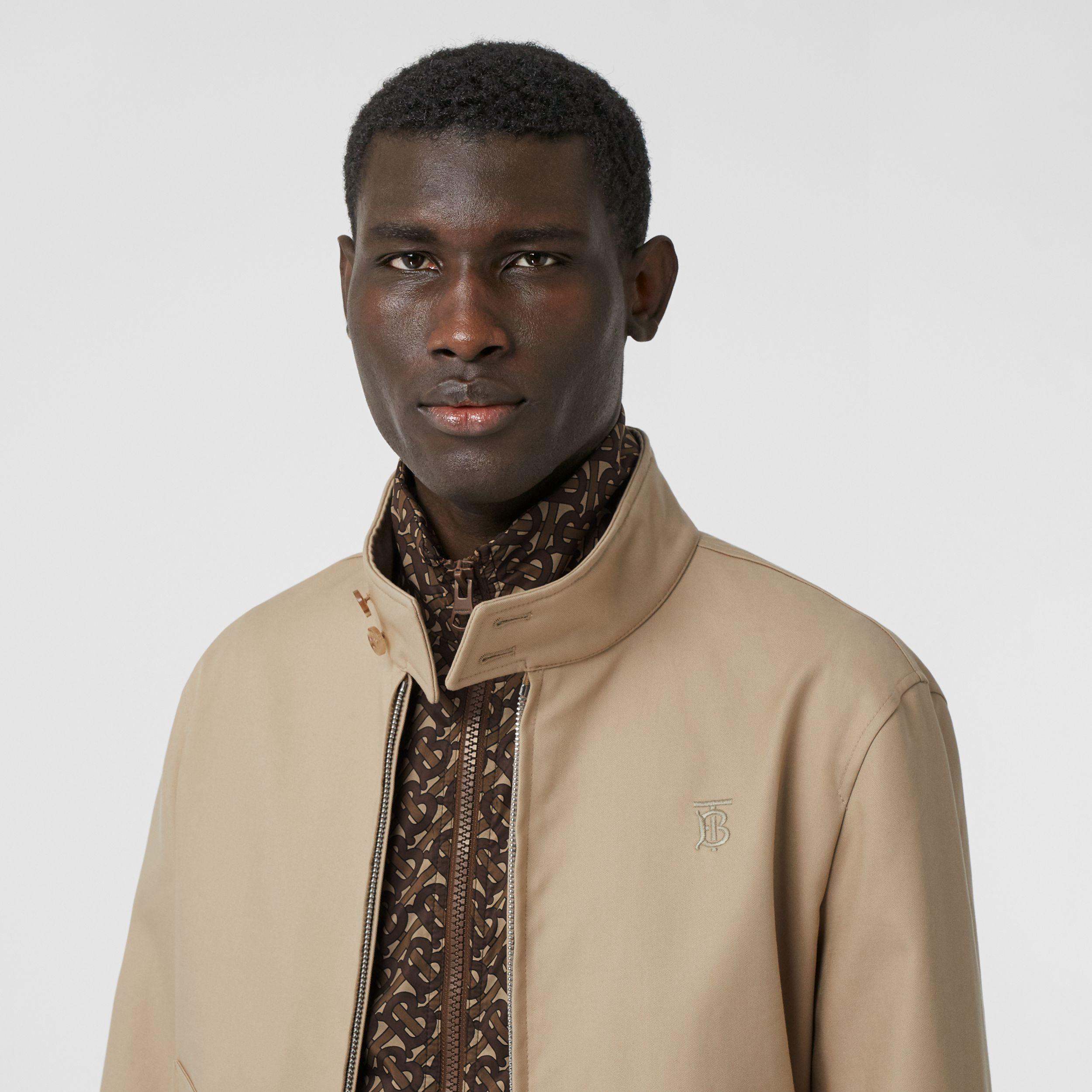 Cotton Harrington Jacket with Detachable Warmer in Honey - Men | Burberry - 2