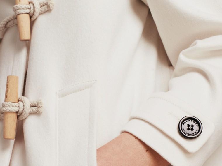 Blanc Duffle-coat en cachemire Blanc - cell image 4