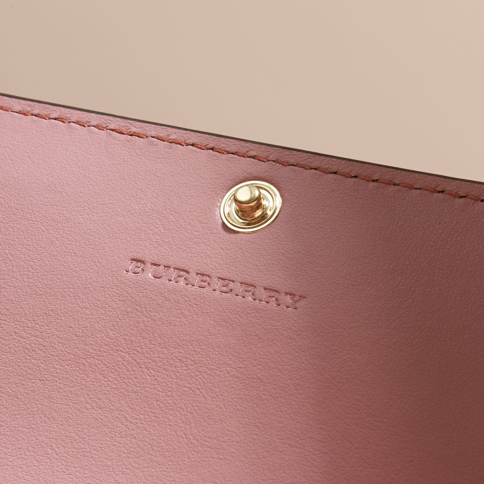 Leather Continental Wallet with Removable Coin Case in Dusty Pink - Women | Burberry - gallery image 6