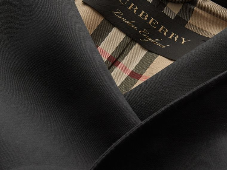 Cappotto asimmetrico in leggero twill di lana double face - Donna | Burberry - cell image 1