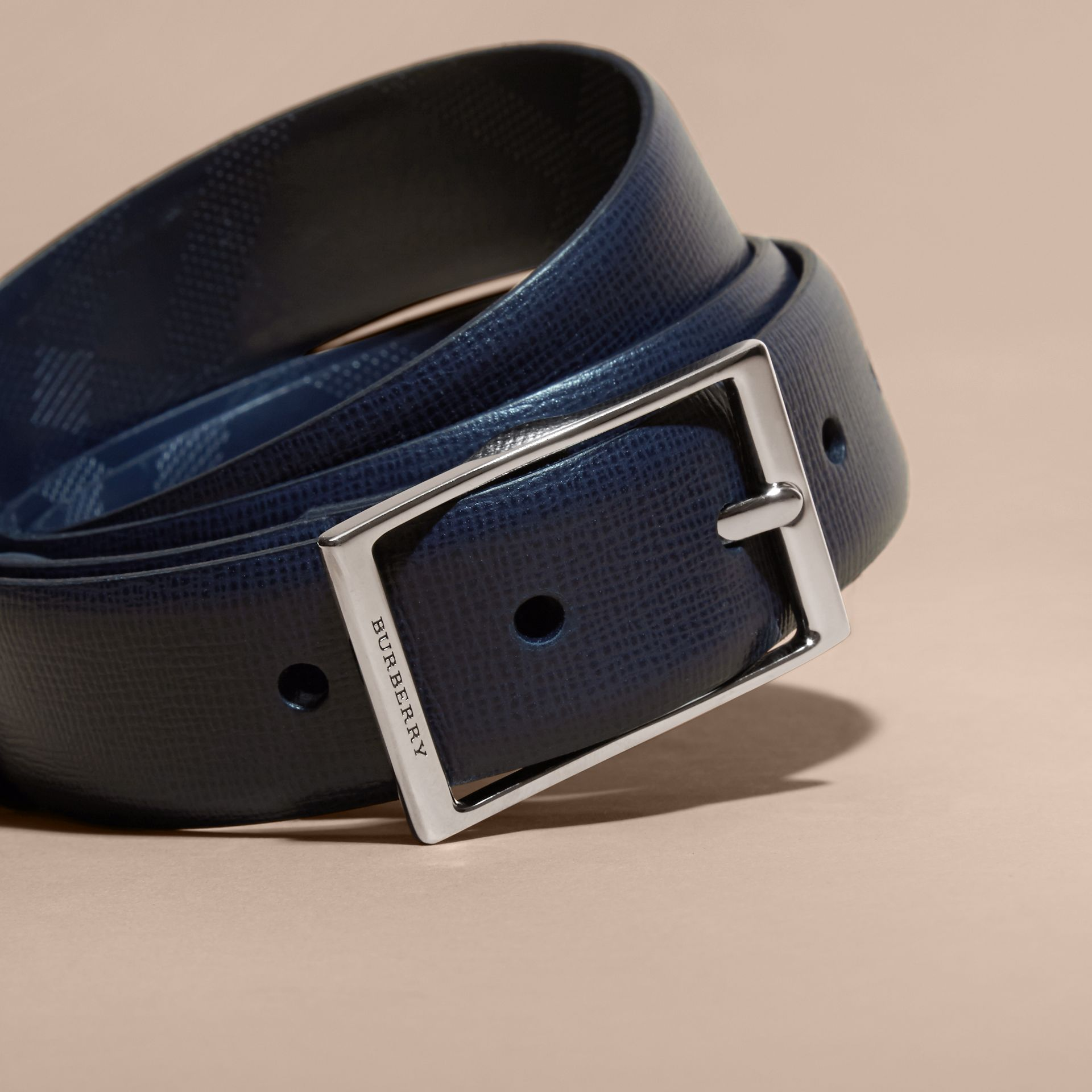 London Leather Belt in Dark Navy - gallery image 2