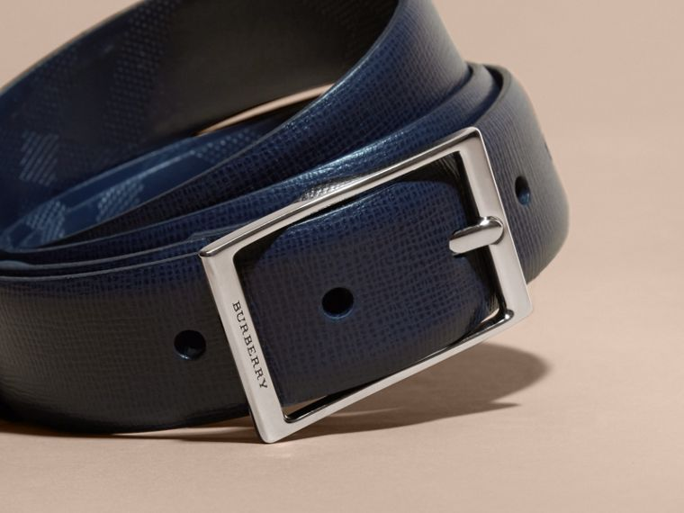 London Leather Belt in Dark Navy - cell image 1