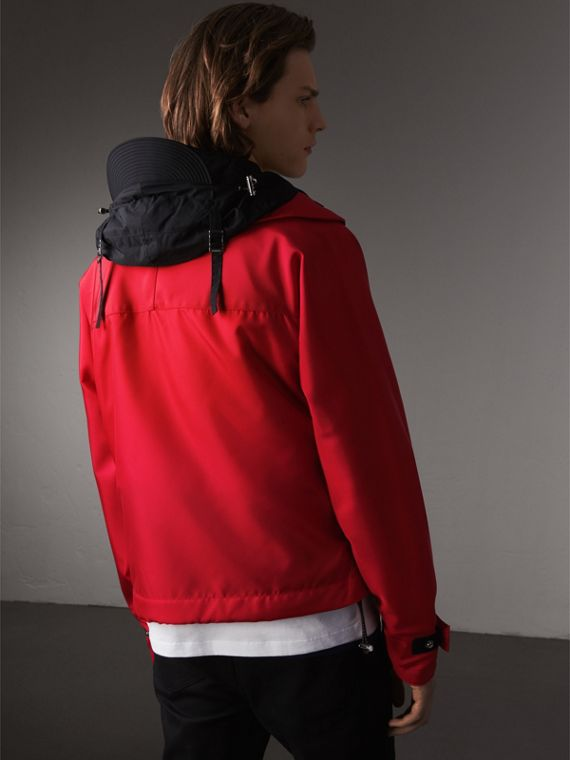 Nylon Canvas Deck Jacket with Detachable Warmer in Military Red - Men | Burberry - cell image 2