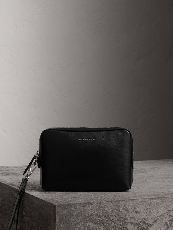 London Leather Pouch in Black