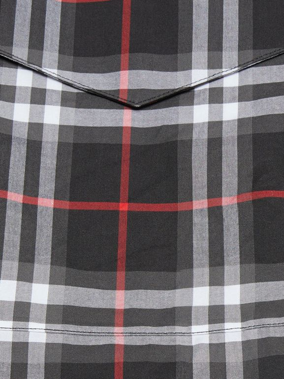 Vintage Check Cotton Shirt Dress in Black | Burberry United States - cell image 1