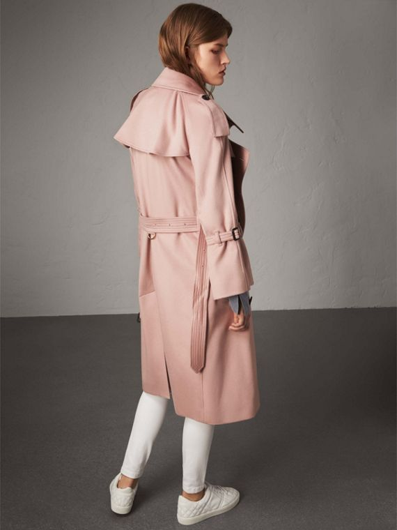 Ruffled Storm Shield Cashmere Trench Coat in Chalk Pink - Women | Burberry - cell image 2
