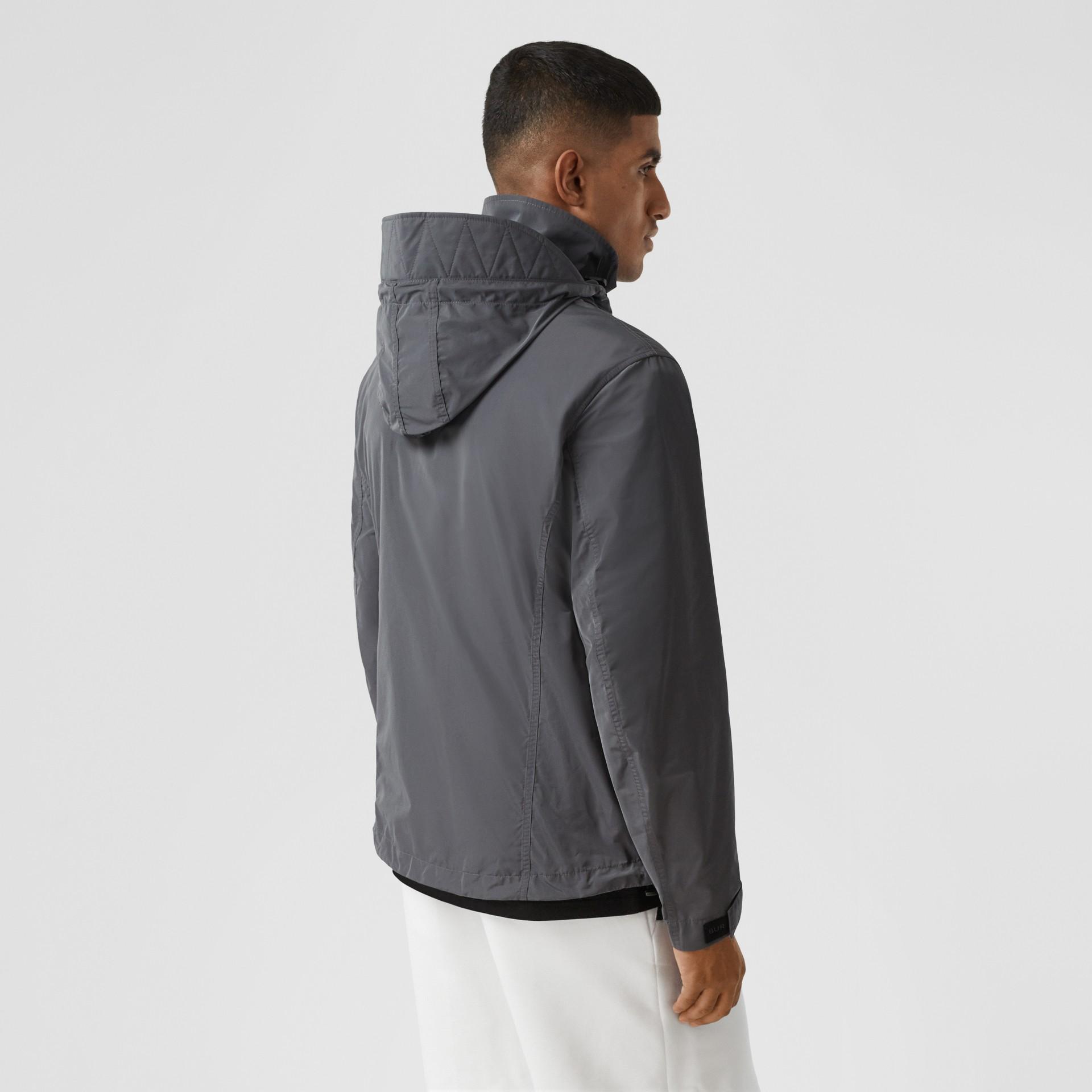 Packaway Hood Shape-memory Taffeta Jacket in Steel Grey - Men | Burberry United States - gallery image 2