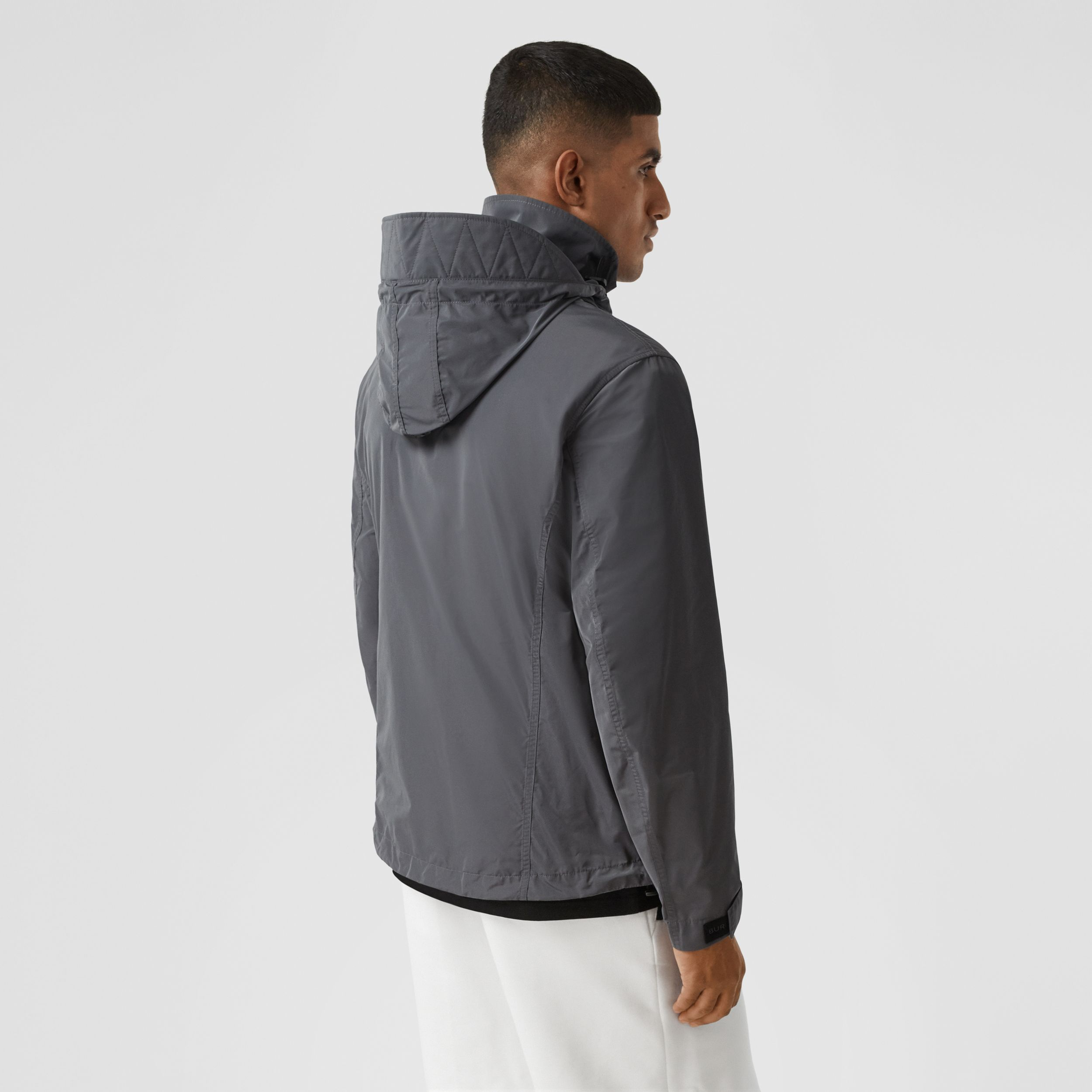 Packaway Hood Shape-memory Taffeta Jacket in Steel Grey - Men | Burberry - 3
