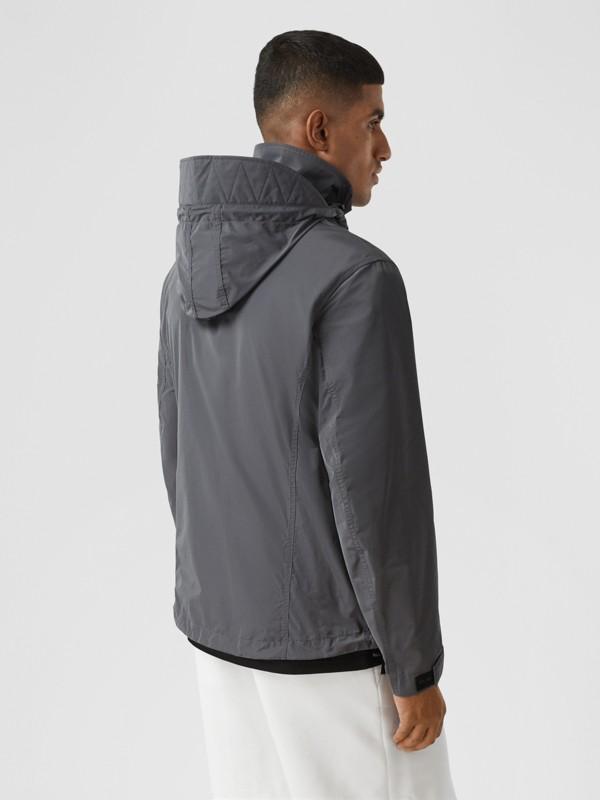 Packaway Hood Shape-memory Taffeta Jacket in Steel Grey - Men | Burberry Australia - cell image 2