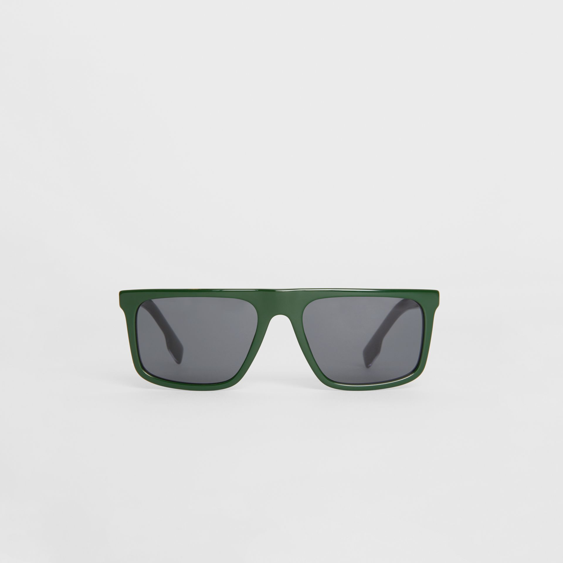 Straight-brow Sunglasses in Green - Men | Burberry - gallery image 0