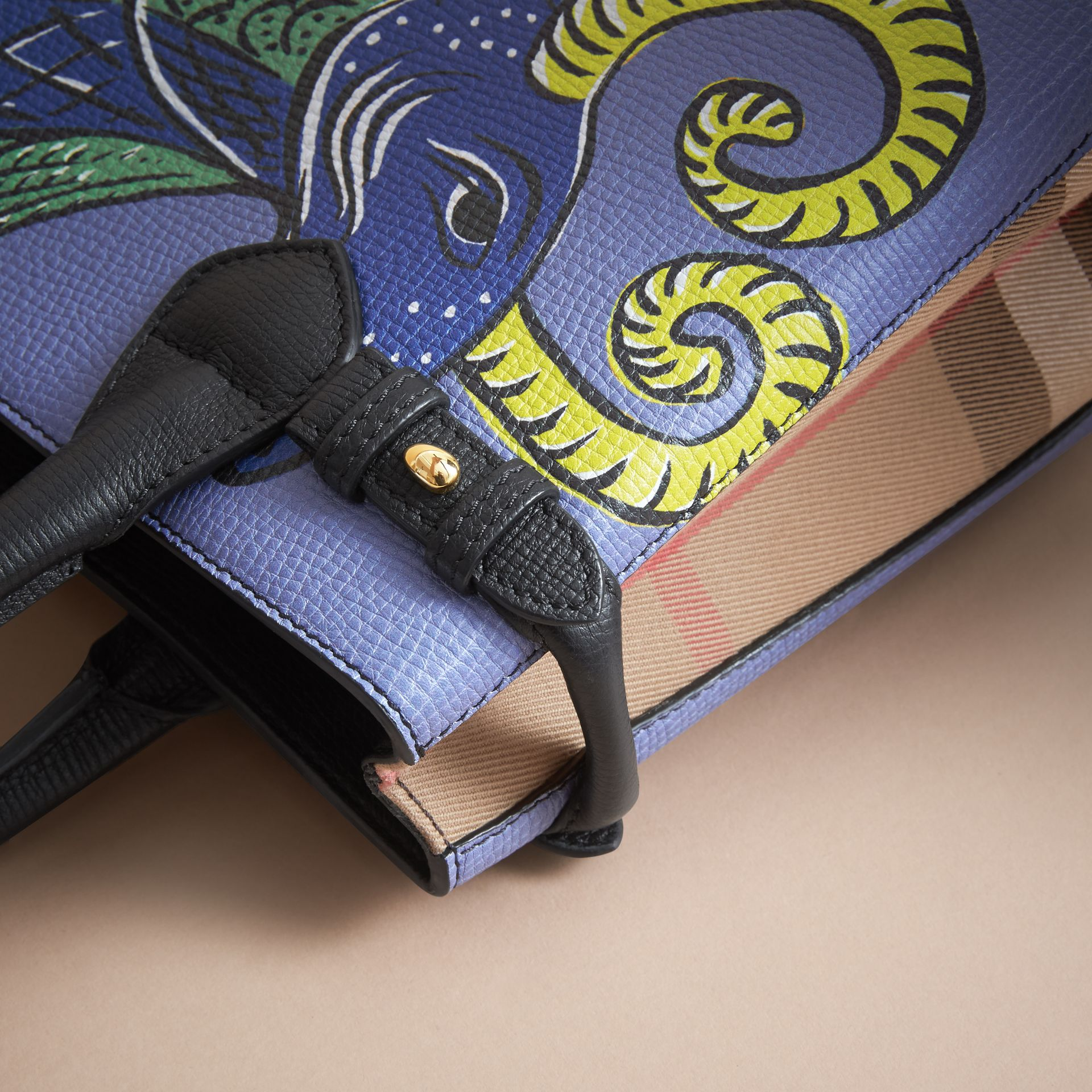 The Small Banner in Beasts Print Leather - Women | Burberry - gallery image 7