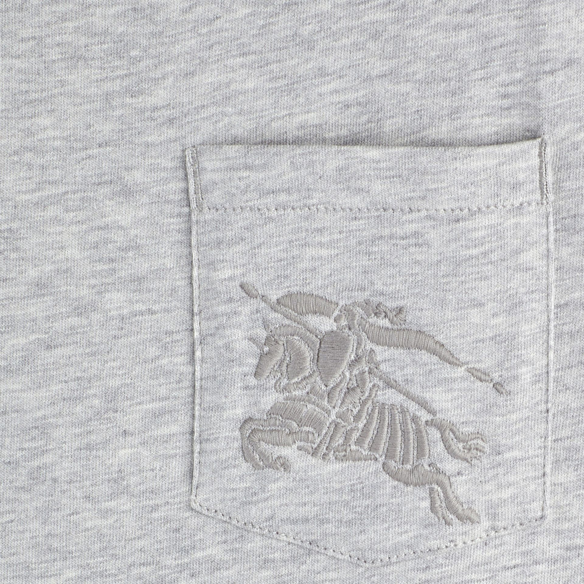 Grey melange Crew Neck Cotton T-shirt Grey Melange - gallery image 2