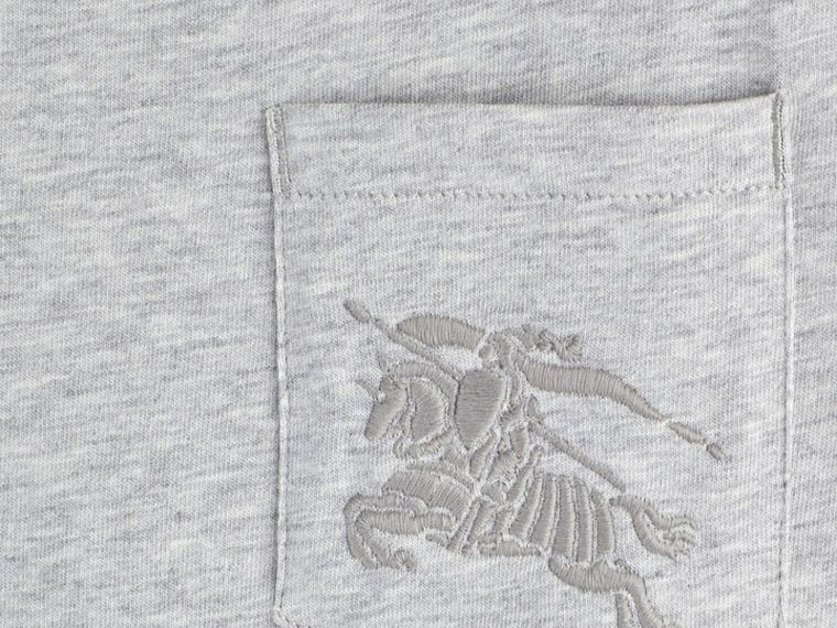 Mezcla de gris Camiseta de algodón con cuello redondo Mezcla  Gris - cell image 1