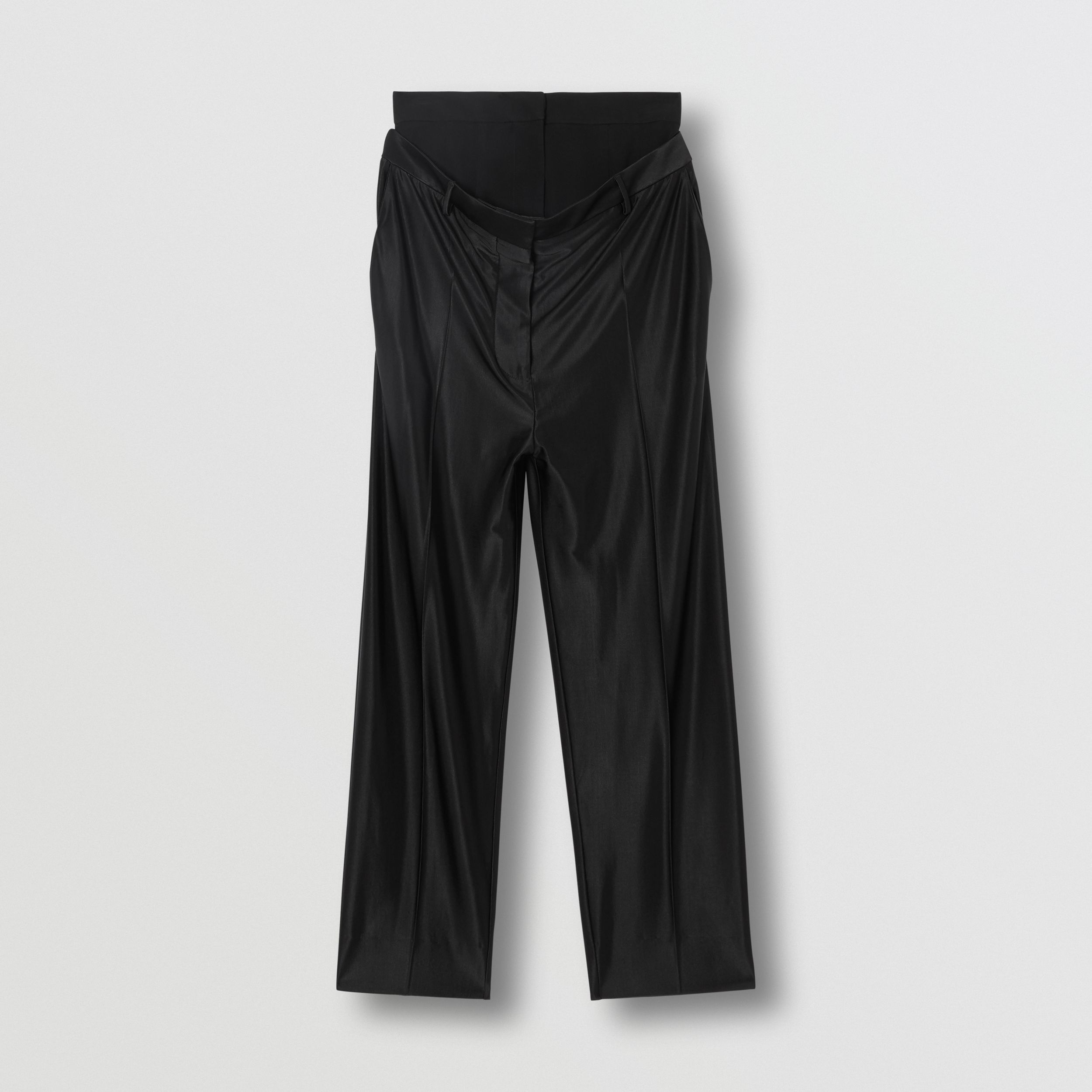 Double-waist Jersey Trousers in Black - Women | Burberry - 4