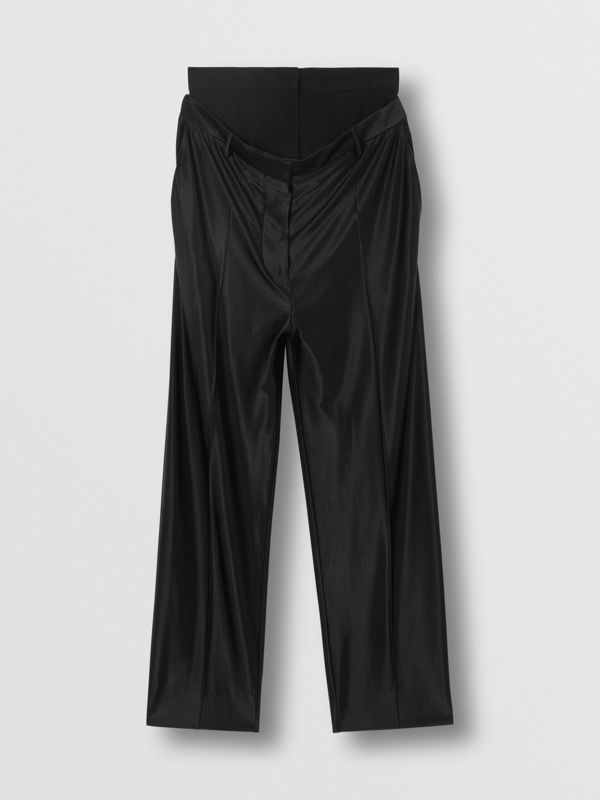 Double-waist Jersey Trousers in Black - Women | Burberry - cell image 3