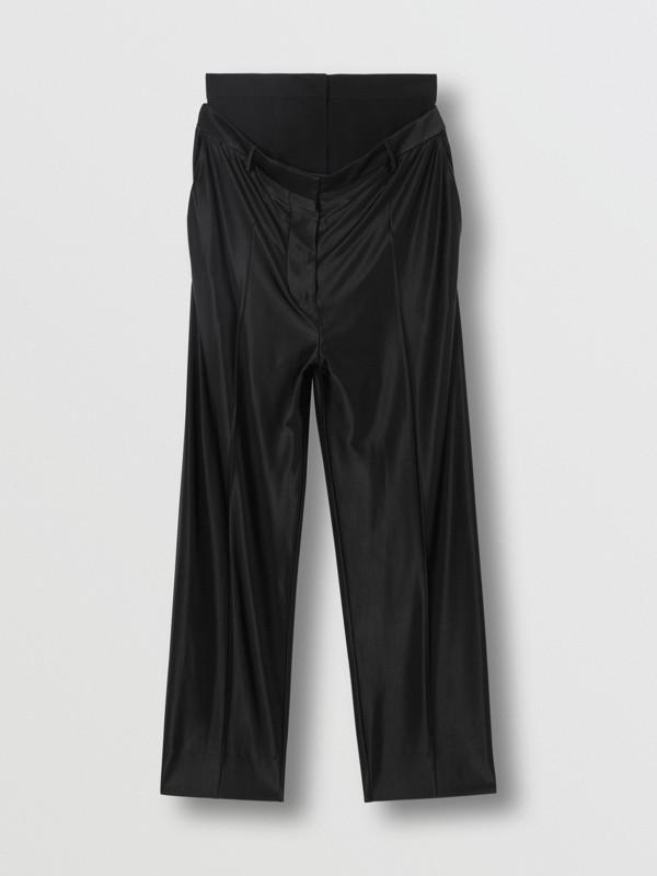 Calças de malha com cintura dupla (Preto) - Mulheres | Burberry - cell image 3