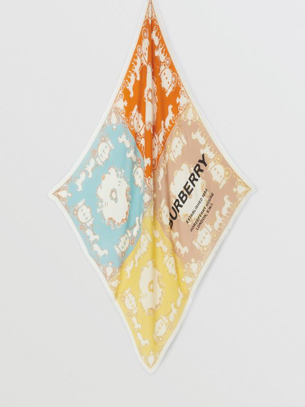 Archive Scarf Print Cashmere Large Square Scarf in Multicolour | Burberry - cell image 3