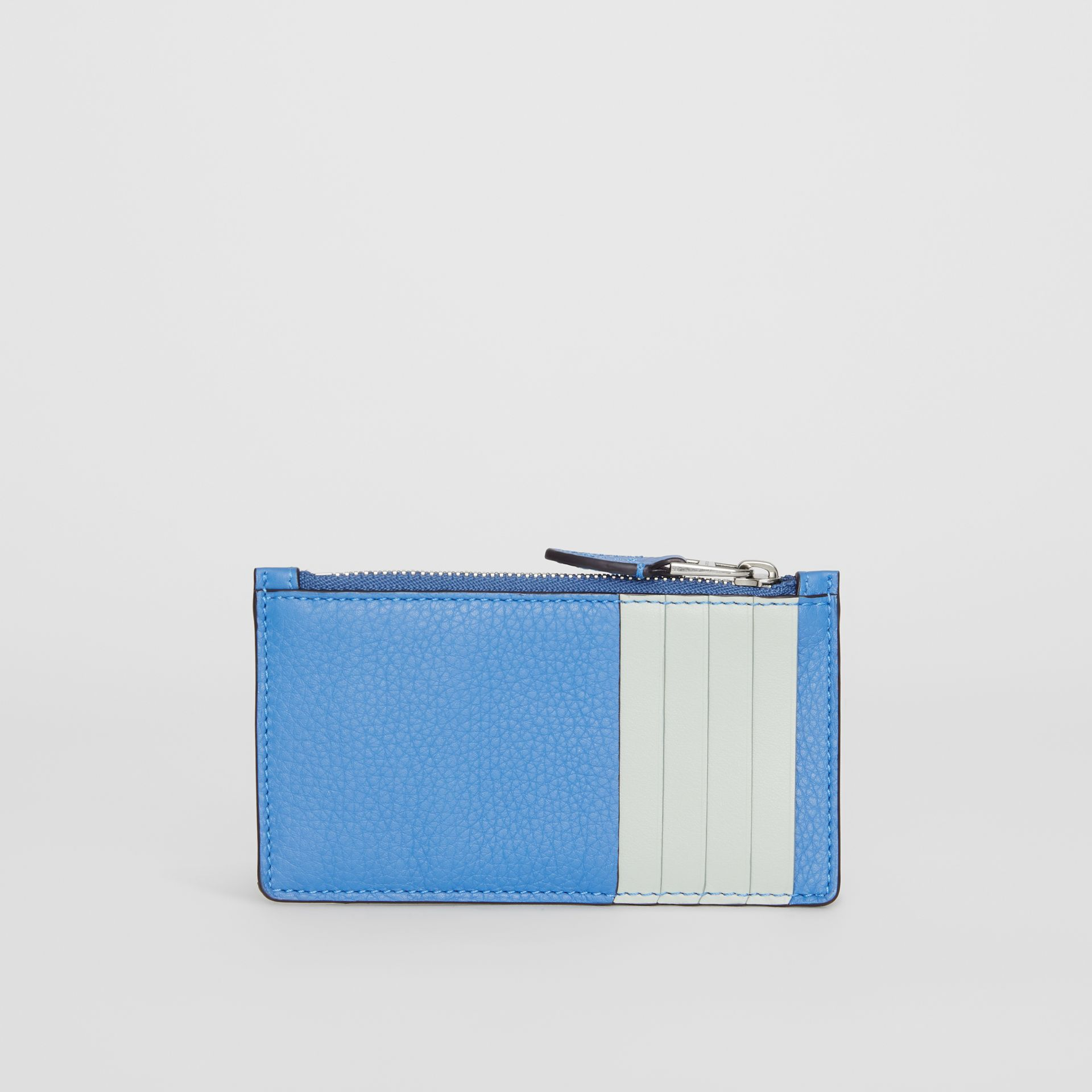 Two-tone Leather Card Case in Hydrangea Blue - Women | Burberry - gallery image 5