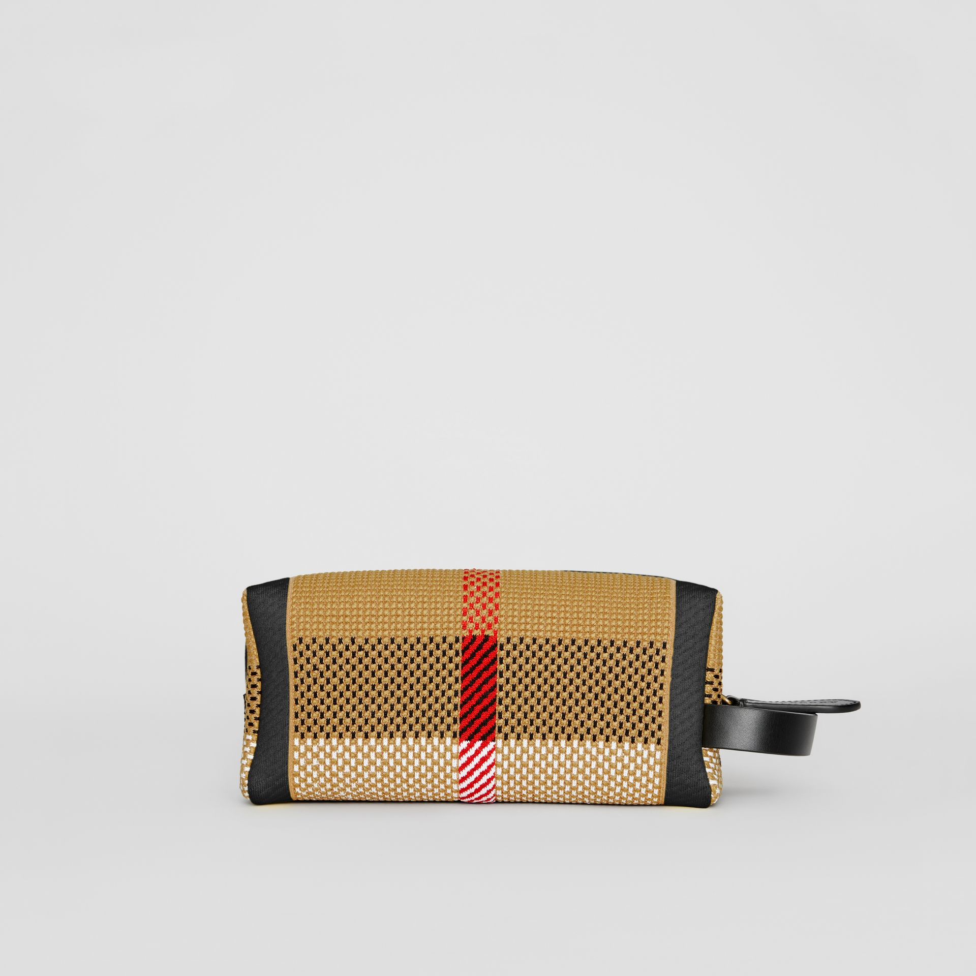 Archive Crest Knitted Pouch in Black | Burberry - gallery image 9