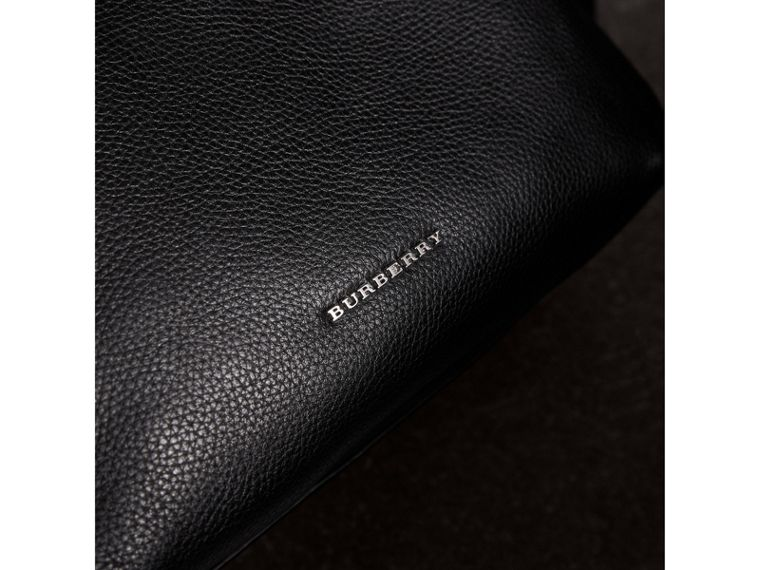 Grainy Leather Backpack in Black - Men | Burberry Canada - cell image 1